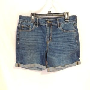 Old Navy Jean Cuffed Shorts Womens Size 4   Measur